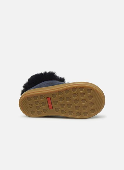 Bottines et boots Shoo Pom Bouba Zip Hair Bleu vue haut