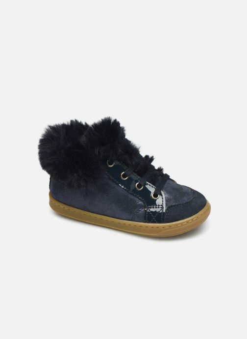 Bottines et boots Shoo Pom Bouba Zip Hair Bleu vue détail/paire