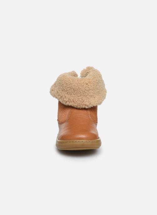 Bottines et boots Shoo Pom Bouba Fur Boots Marron vue portées chaussures