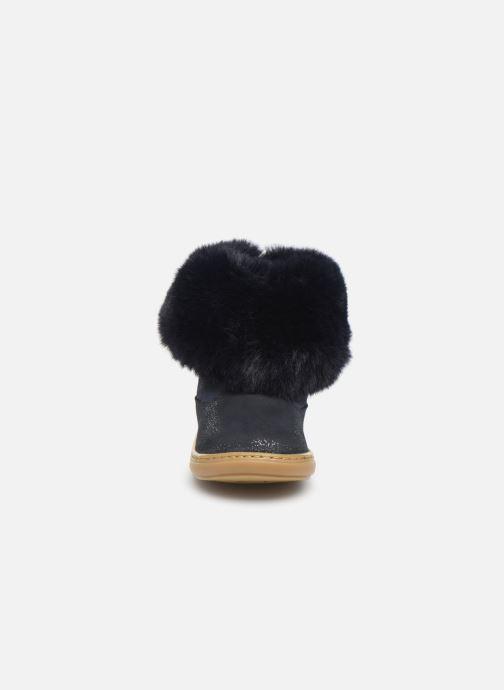 Stivaletti e tronchetti Shoo Pom Bouba Fur Boots Azzurro modello indossato
