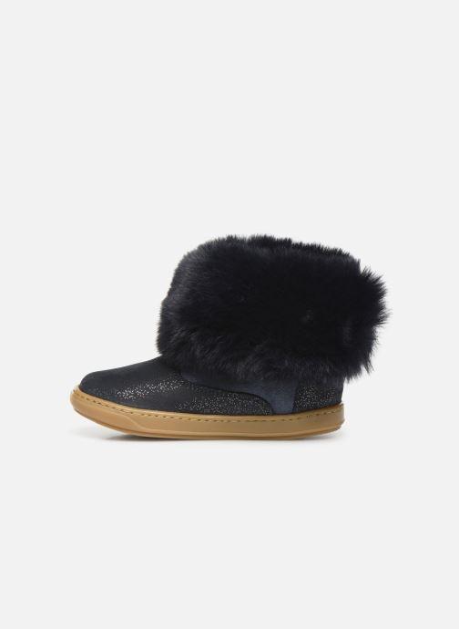 Botines  Shoo Pom Bouba Fur Boots Azul vista de frente