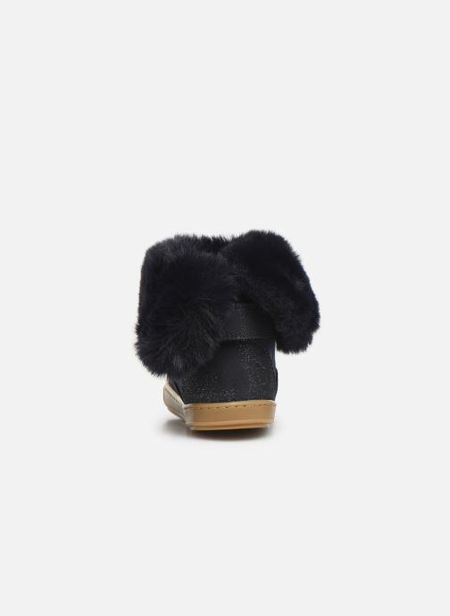 Botines  Shoo Pom Bouba Fur Boots Azul vista lateral derecha