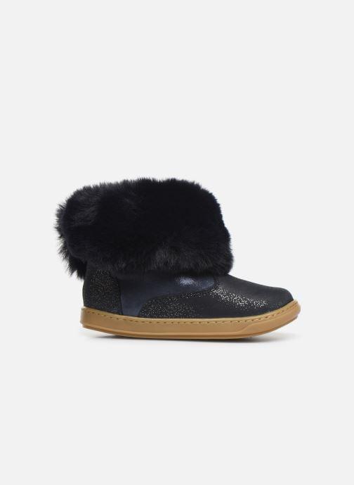 Botines  Shoo Pom Bouba Fur Boots Azul vistra trasera