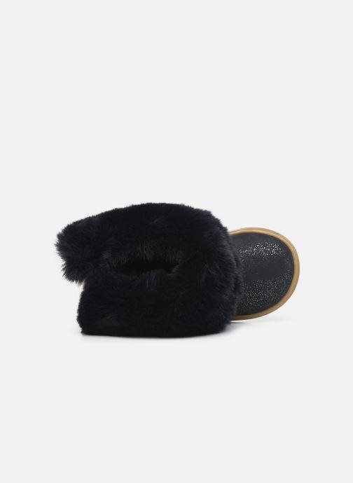 Botines  Shoo Pom Bouba Fur Boots Azul vista lateral izquierda