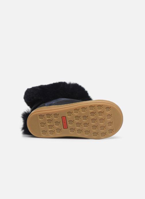Botines  Shoo Pom Bouba Fur Boots Azul vista de arriba