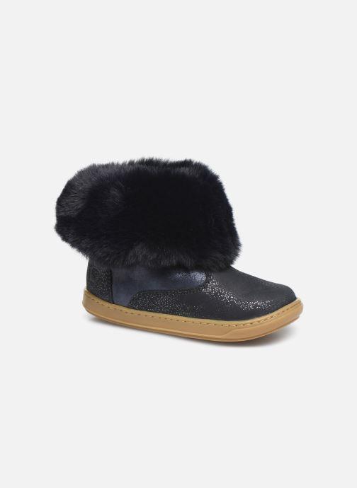 Bottines et boots Shoo Pom Bouba Fur Boots Bleu vue détail/paire