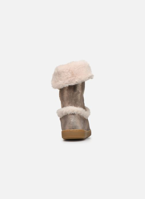 Bottines et boots Shoo Pom Play Moot Or et bronze vue droite
