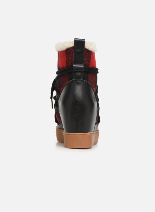 Bottines et boots Shoe the bear TRISH CHECK WOOL Rouge vue droite