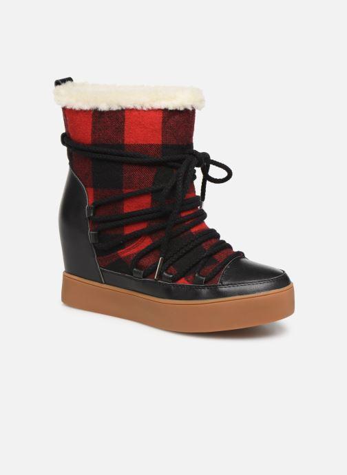 Bottines et boots Shoe the bear TRISH CHECK WOOL Rouge vue détail/paire