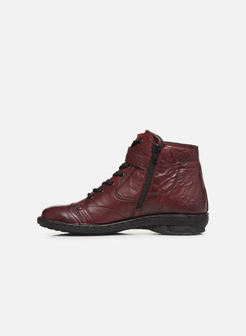 Ankle boots Khrio 10500K Burgundy front view