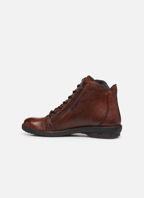 Ankle boots Khrio 10502K Brown front view