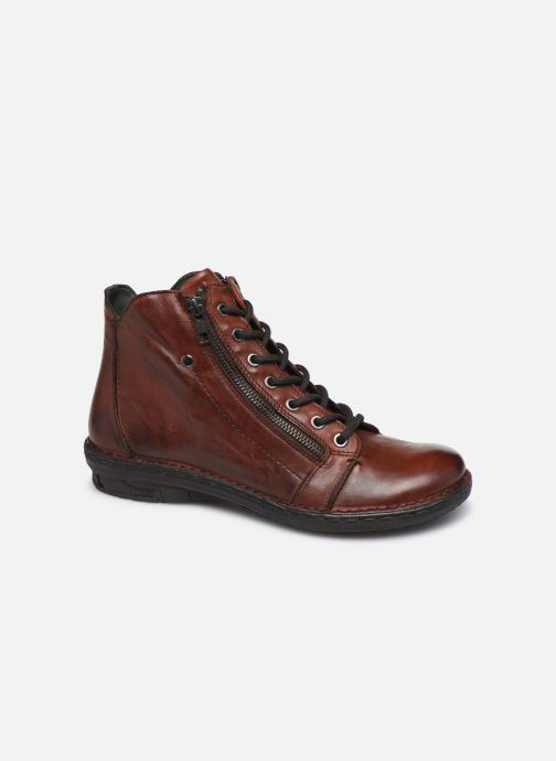 Ankle boots Khrio 10502K Brown detailed view/ Pair view