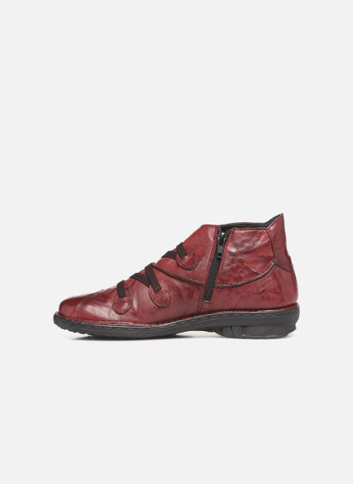 Ankle boots Khrio 10504K Burgundy front view