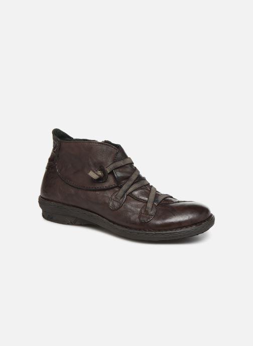 Ankelstøvler Khrio 10504K Brun detaljeret billede af skoene