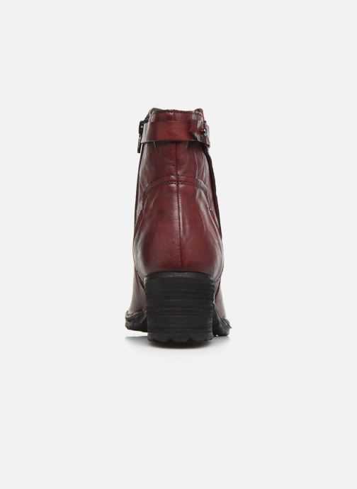 Ankle boots Khrio 10546K Burgundy view from the right