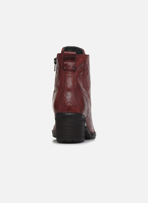 Ankle boots Khrio 10540K Burgundy view from the right
