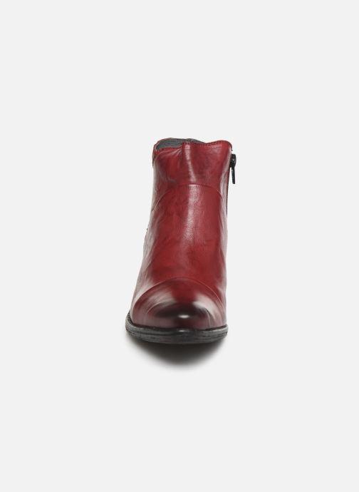 Bottines et boots Khrio 10800K Bordeaux vue portées chaussures