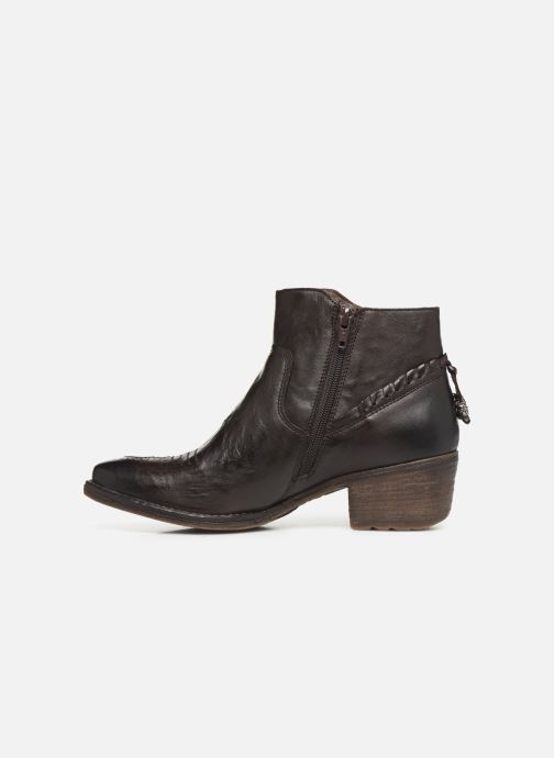 Ankle boots Khrio 10807K Brown front view