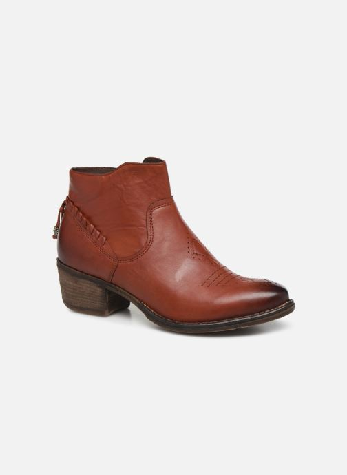 Ankle boots Khrio 10807K Brown detailed view/ Pair view