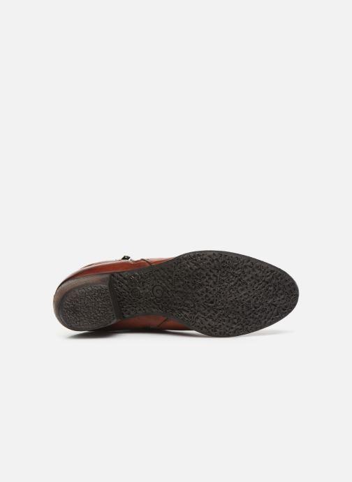 Botines  Khrio 10721K Rojo vista de arriba