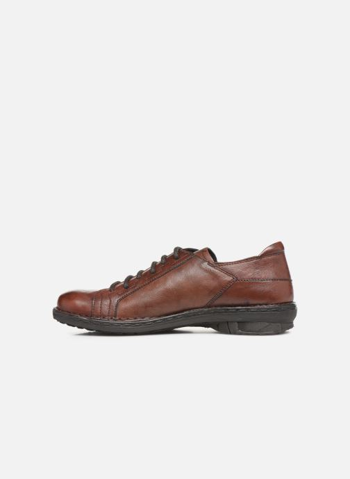 Lace-up shoes Khrio 10505K Brown front view