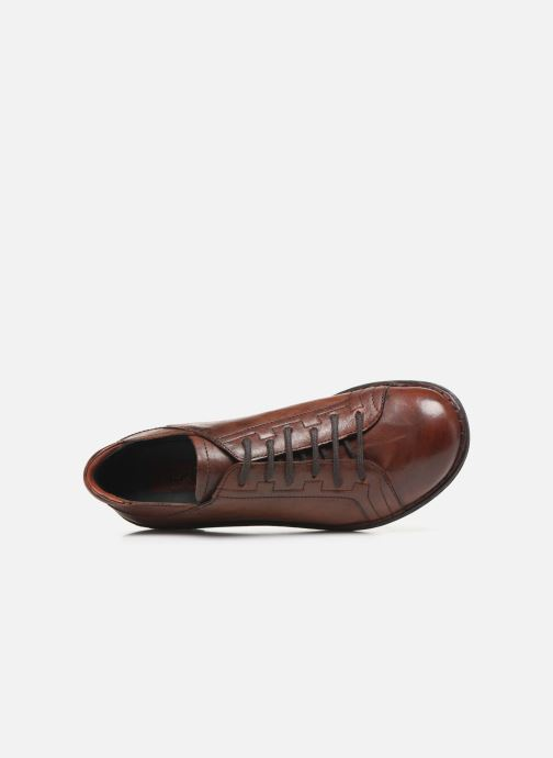 Lace-up shoes Khrio 10505K Brown view from the left