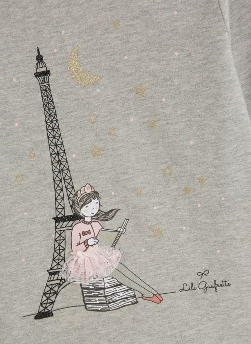 """Kleding Lili Gaufrette T-Shirt """"Tour Eiffel"""" Gris Clair Grijs model"""