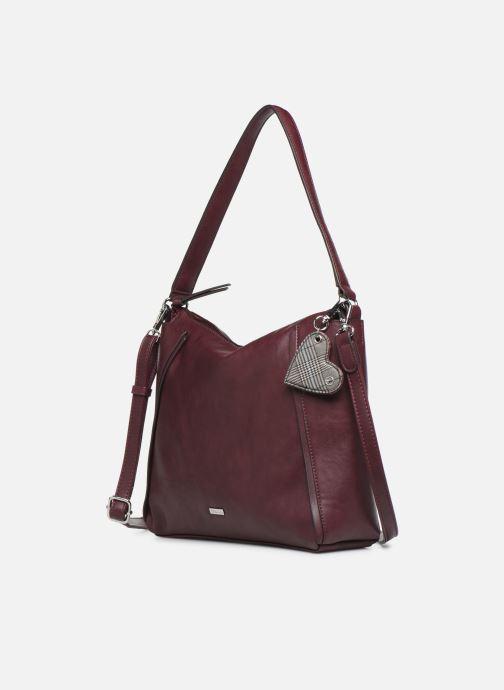 Handtaschen Tamaris NELLI Hobo bag weinrot schuhe getragen