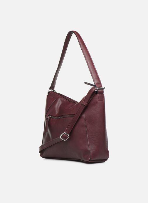 Handtaschen Tamaris NELLI Hobo bag weinrot ansicht von rechts