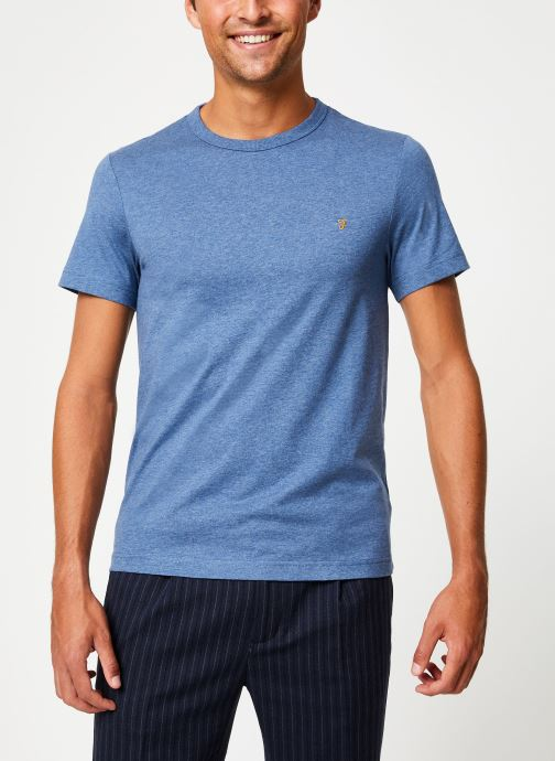 Vêtements Farah F4KF9044 Bleu vue droite