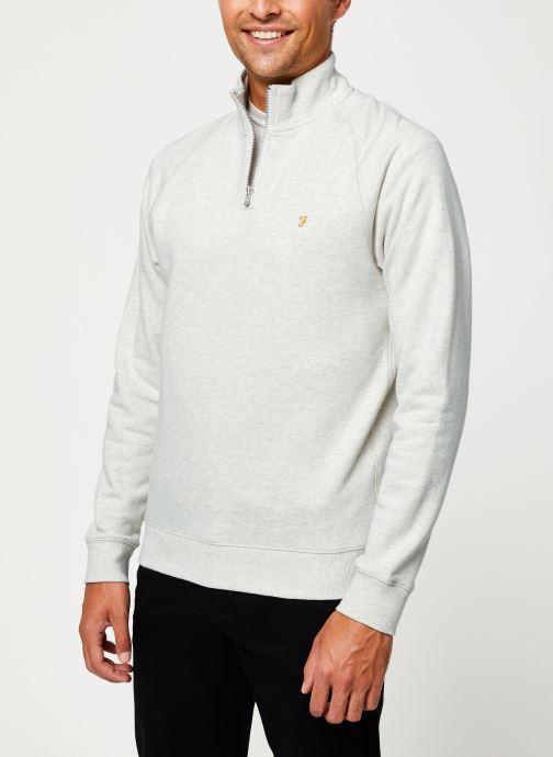 Vêtements Farah F4KS80H3 Blanc vue droite