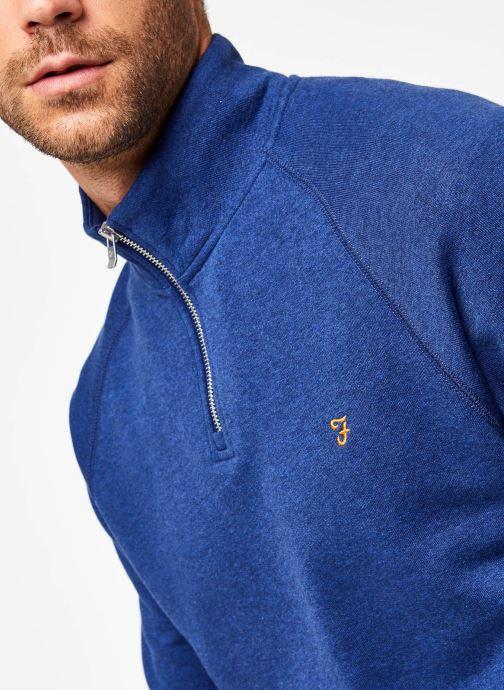 Vêtements Farah F4KS80H3 Bleu vue face