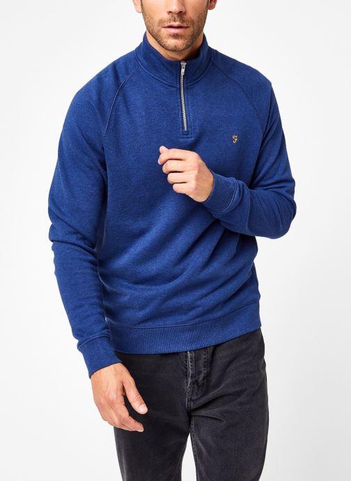 Vêtements Farah F4KS80H3 Bleu vue droite