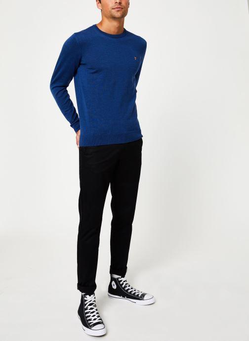 Vêtements Farah F4GF4081 Bleu vue bas / vue portée sac