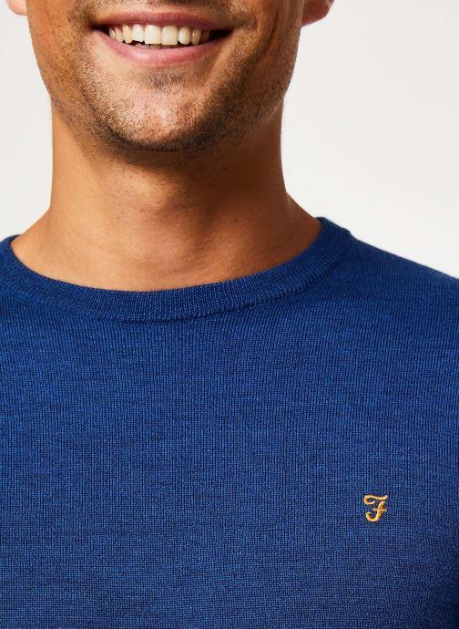 Vêtements Farah F4GF4081 Bleu vue face
