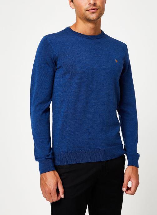 Vêtements Farah F4GF4081 Bleu vue droite