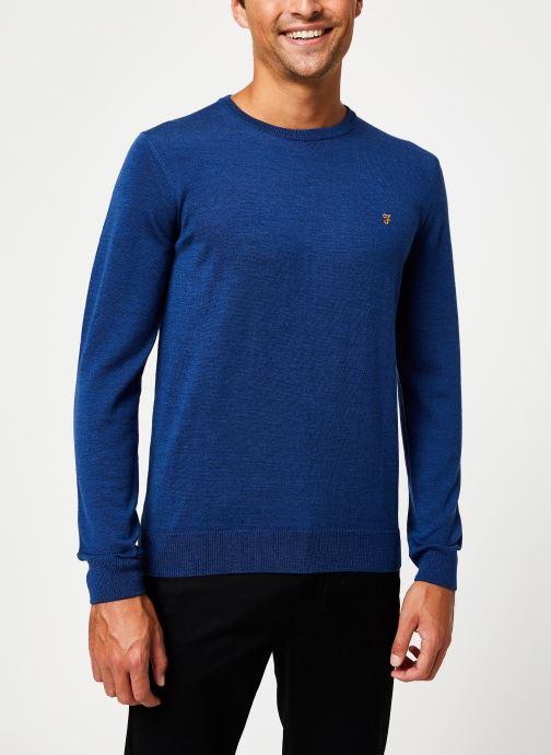 Vêtements Farah F4GF4081 Bleu vue détail/paire
