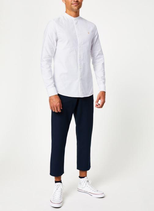 Vêtements Farah F4WF60D8 Blanc vue bas / vue portée sac