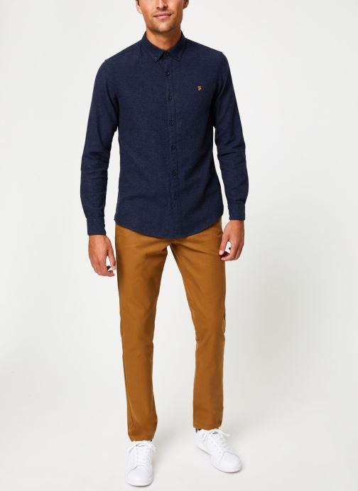 Vêtements Farah F4WH8018 Bleu vue bas / vue portée sac