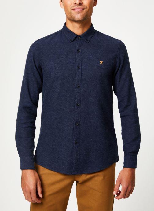 Vêtements Farah F4WH8018 Bleu vue droite