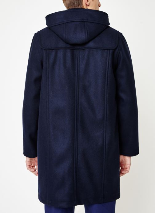 Vêtements Armor Lux Duffle Coat Quimper Bleu vue portées chaussures