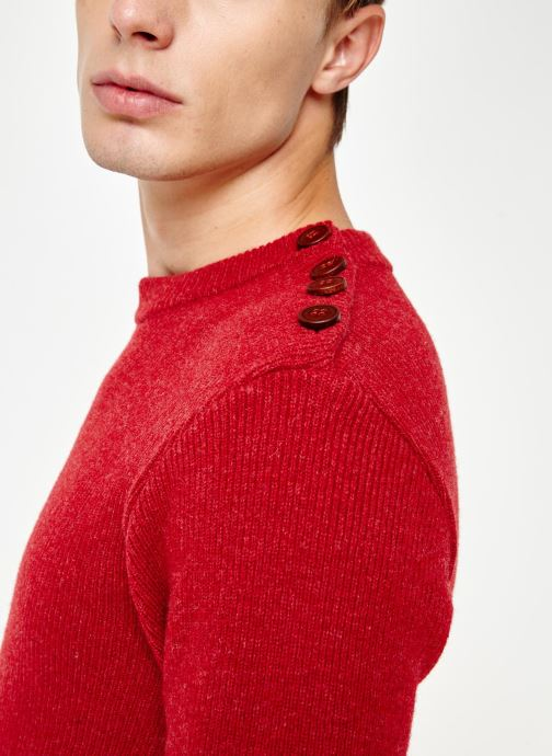 Vêtements Armor Lux Pull Marin Héritage Rouge vue face