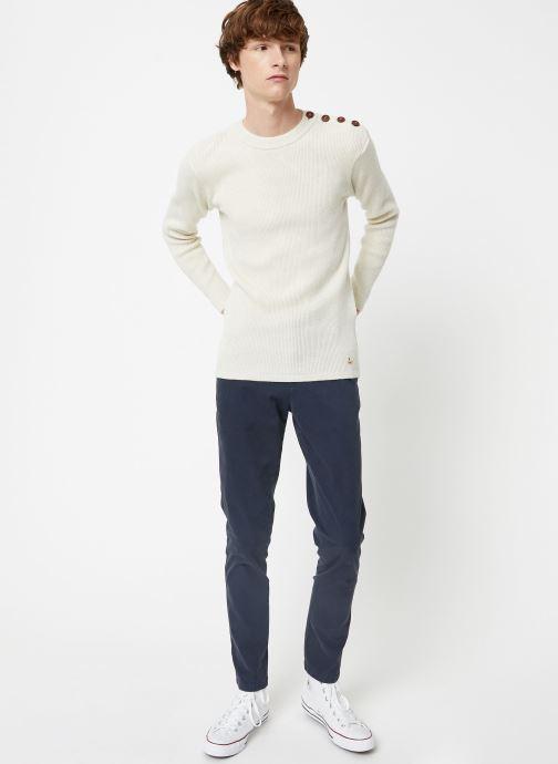 Vêtements Armor Lux Pull Marin Héritage Blanc vue bas / vue portée sac