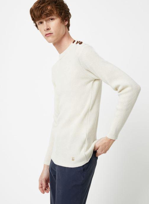 Vêtements Armor Lux Pull Marin Héritage Blanc vue droite