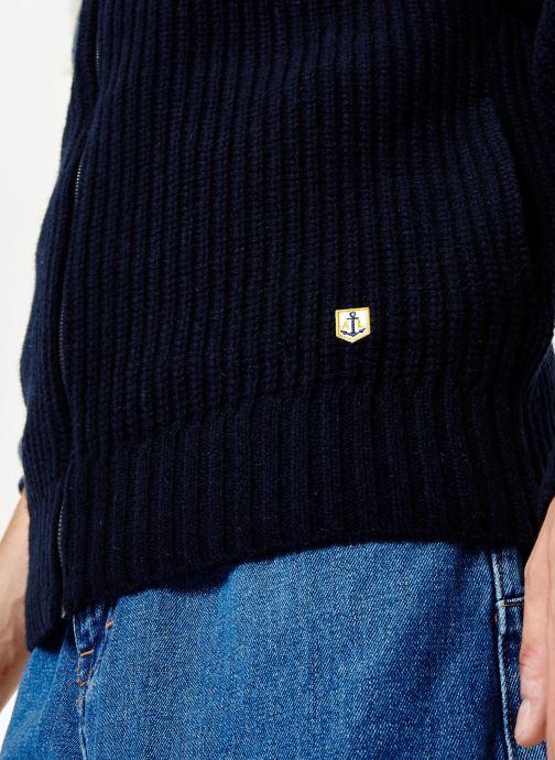 Vêtements Armor Lux Cardigan Héritage Bleu vue face