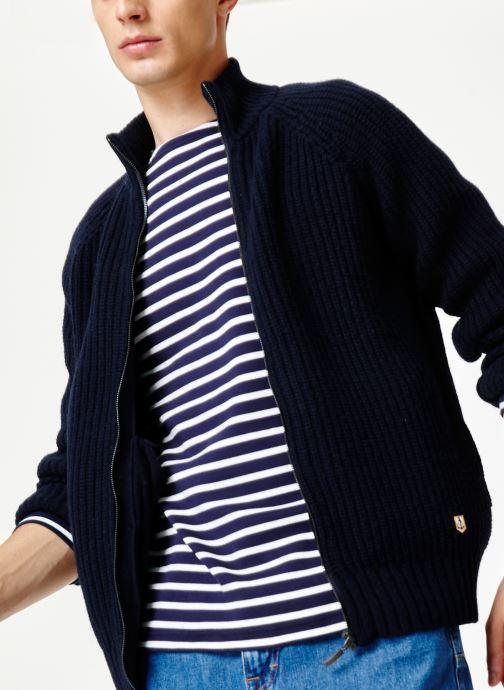 Vêtements Armor Lux Cardigan Héritage Bleu vue droite