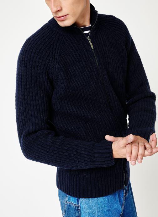 Vêtements Armor Lux Cardigan Héritage Bleu vue détail/paire