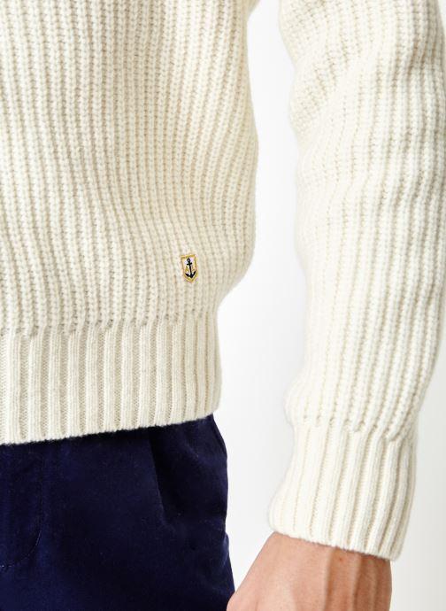 Vêtements Armor Lux Pull Col Rond Héritage Blanc vue face
