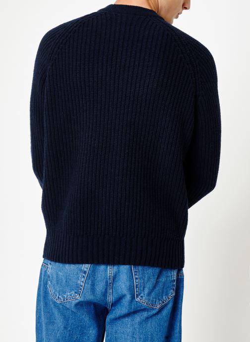 Vêtements Armor Lux Pull Col Rond Héritage Bleu vue portées chaussures