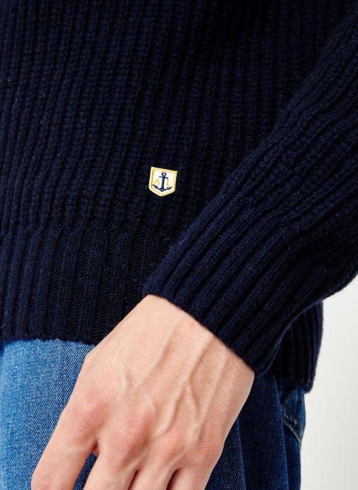 Vêtements Armor Lux Pull Col Rond Héritage Bleu vue face